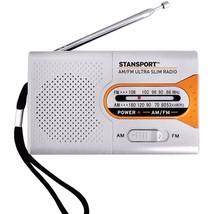 Stansport Emergency AM/FM Radio Uses 2 AA Batteries Be Prepared Earphone... - $12.82