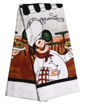 ITALIAN COOK KITCHEN TOWELS Set of 2 Fat Chef Ristorante Bistro Tea Towel