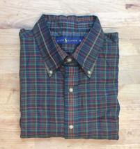 $145 Polo Ralph Lauren Men's LS Casual Plaid Shirt, Olive/Wine, Size XL - $59.39