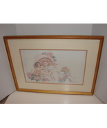 "Matted, Framed Jan Hagara Signed, Numbered Lt Ed Print (1988) ""Mattie"" - $39.99"