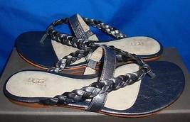 UGG Australia MAIA Braided Two Tone Leather Thong Sandals Size US 8, EU 39 NIB - $36.10
