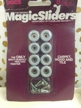 ROUND MAGIC SLIDER 8 PACK - 3/4inch 19mm SCREW  SEALED NEW  image 2