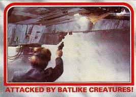 1980 Topps Star Wars Empire Strikes Back Red Cards ATTACKED BY BATLIKE C... - $3.91