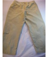 WOMEN LARRY LEVINE LIGHT MUSTARD PANTS LINED SIZE 14 - $6.99