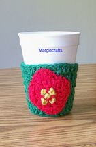 Crochet Drink Cozy, Handmade, Christmas Cozy, Coffee Warmer - $15.00