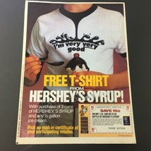 VTG Retro 1986 Hershey's Syrup FREE T-Shirt & Dole Pineapple Print Ad Coupon - $18.95