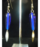 Cobalt Earrings w/ SS Dangles on Surgical Steel Ear wires - $5.00