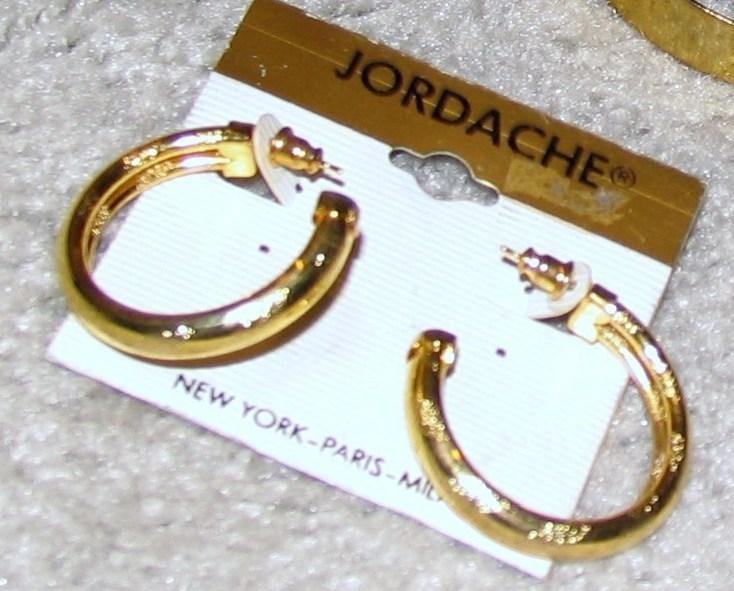 Vintage 2 Pair Goldtone Hoop Pierced Earrings