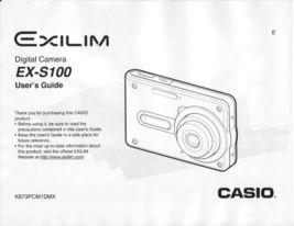 NEW Casio Exilim EX-S100 Camera User Manual Multi-Language + Software M831 - $8.96
