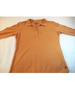 WOMEN GRAMICCI MUSTARD TOP SHIRT LARGE L LONG SLEEVES - $7.99