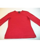 WOMEN INC RED CAREER SHIRT TOP S SMALL 3/4 SLEEVE - $7.99