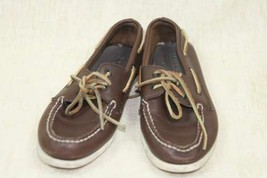 Sperry Top-Sider Brown Leather Laced Sz 5 EU 37.5 - $16.27