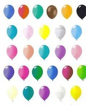 "144 latex balloons 12"" standard colors non metallic non pearlized - $17.99"