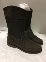 Ugg Boots Youth Size 6 Brown Leather Uk5 Eu36 - $59.39
