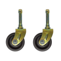 SET OF (2) BED  FRAME CASTER WHEELS WITH SOCKET INSERTS - $5.89
