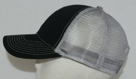 Mega Cap 7641 Grey Mesh Back Black Twill Front Trucker Hat image 3