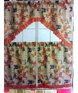 "Kitchen Curtains Set: 2 Tiers (30"" x 36"") & Swag (60"" x 36"") FRUITS JAM ... - $16.82"