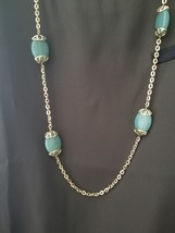 Green & Gold Long Necklace by Monet - $11.00