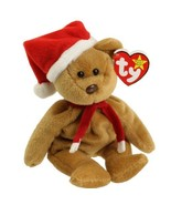 Rare Retired Ty Beanie Baby Holiday 1997 Teddy With Errors Style 4200 Br... - $70.13