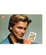 River Phoenix Alyssa Milano teen magazine pinup clipping sunlight 80's c... - $3.50