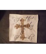 Faith, Family, & Friends Vinyl T-Shirt Initials Front Chest Adults White... - $35.00