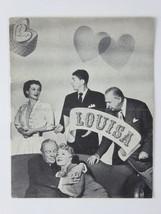 Ronald Reagan Ruth Hussey Charles Coburn Vtg Louisa 1950 Danish Movie Pr... - $26.68