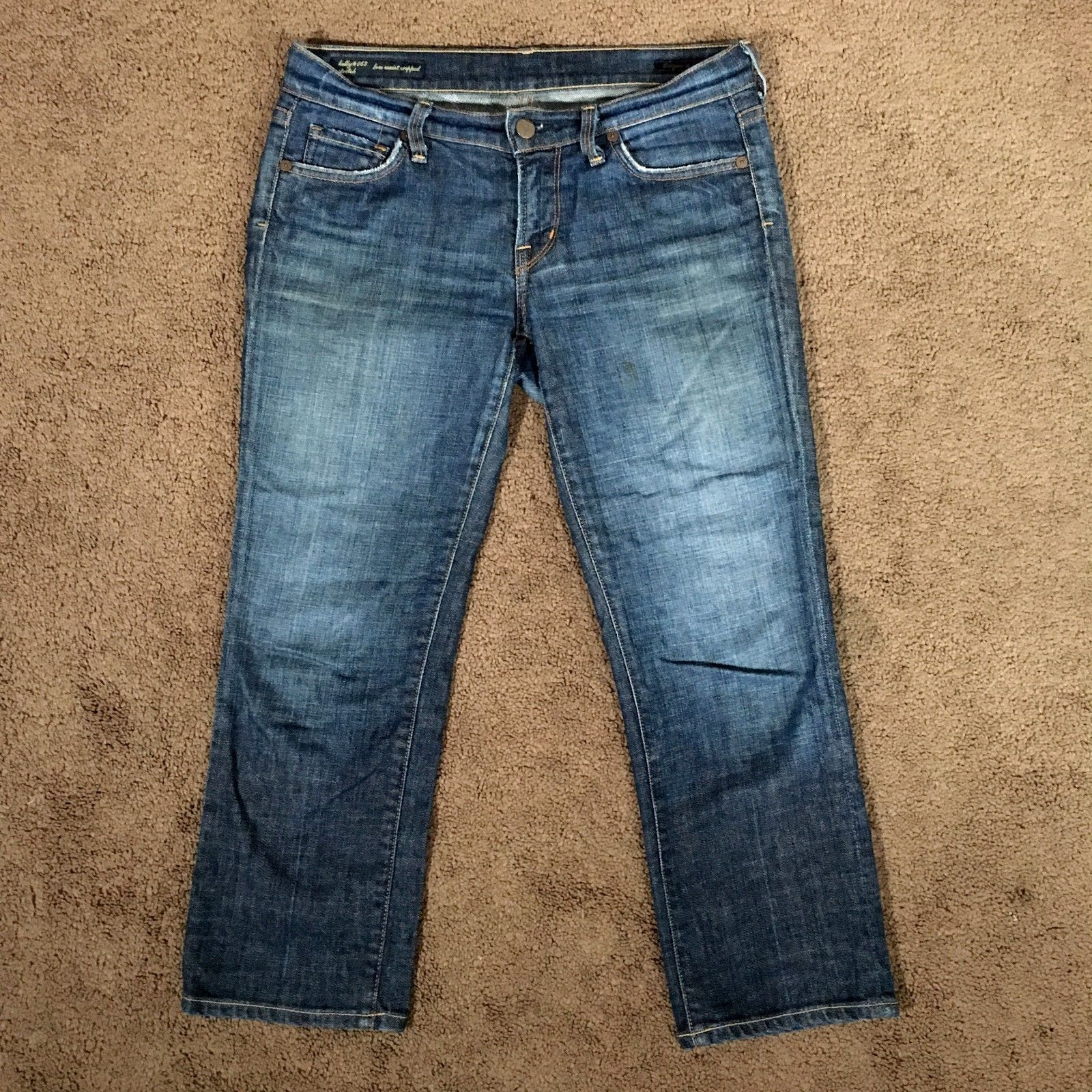 Citizens Of Humanity Womens Kelly 063 Cropped Capris Jeans Low Waist 26 x 23