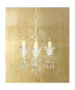 French Provincial Scrollwork Candle Holder Chandelier w/ Chain & Hook - $32.95