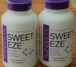 Youngevity Slender FX Sweet Eze 120 capsules 4 Pack Dr Wallach Free Ship... - $99.63