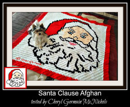 Santa Clause C2C Crochet Pattern Graph Written Word Chart - $5.50