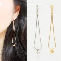 Ball Long Drop Dangle Earrings Brass Gold Silver Color Fashion Item SE164 - $18.99