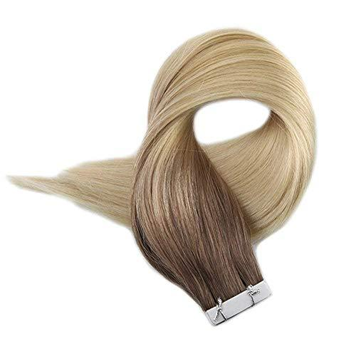 Full Shine Tape In Hair Extensions 14 Inch Remy Seamless Skin Weft Hair Extensio
