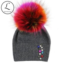GZHILOVINGL 2017 New High Quality Women Winter Diamond Knitted Wool Hat ... - $26.50