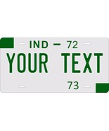 Indiana 1972 License Plate Personalized Custom Car Bike Motorcycle Moped - $10.99+