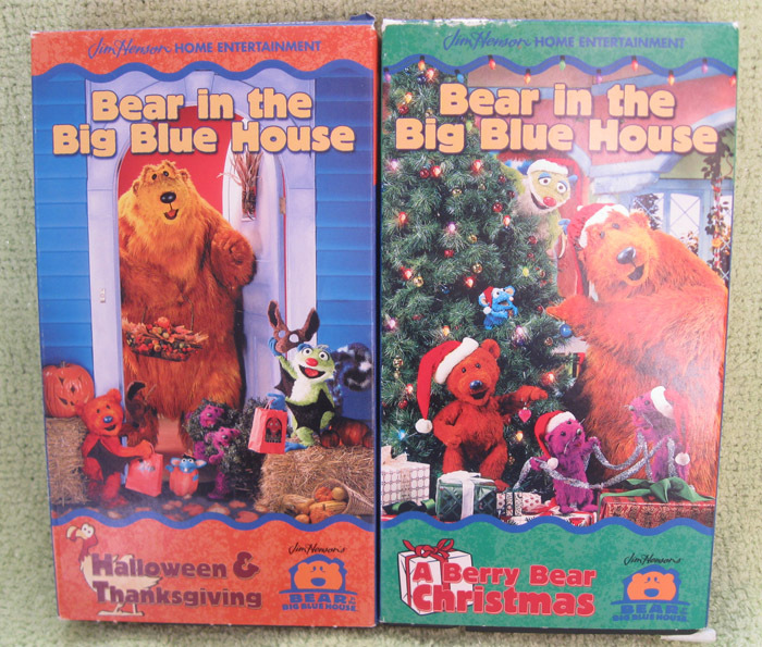 BERRY BEAR CHRISTMAS Set TWO Holiday VHS Big Blue House