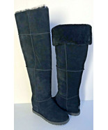 UGG CLASSIC FEMME TALL OVER THE KNEE BLACK WEDGE BOOTS US 6.5 / EU 37.5 ... - $232.82