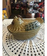 Oval Covered Serving Dish Chicken Theme - $37.65