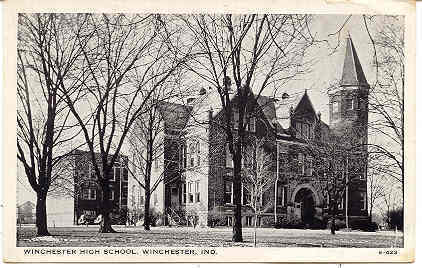 Primary image for  The High School Winchester Indiana Vintage Post Card