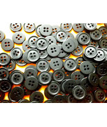 12 mm Bulk / wholesale / Small, Round, Black Plastic Buttons Set of 1000 - $16.00
