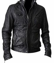 Mission Impossible Ghost Protocol Tom Cruise Black Hooded Genuine Leather Jacket image 1
