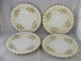 """Meito China Hand Painted 4 Salad Plates 7.75"""" Very good condition - $29.95"""
