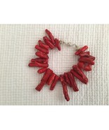 Red Dyed Coral Bracelet - $45.53