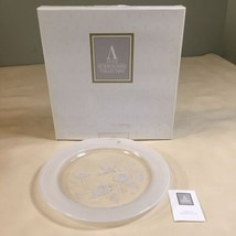 AVON 24% LEAD CRYSTAL HUMMINGBIRD COLLECTION DINNER PLATE  - $19.79