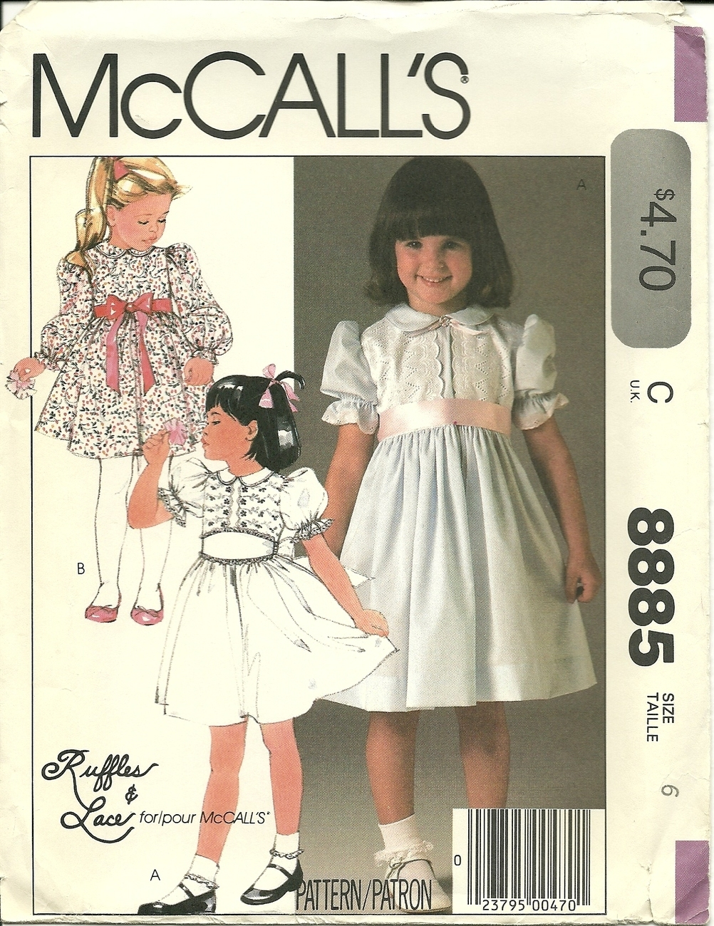 mccall girls Includes pattern pieces and sewing instructions made by mccall's patterns butterick patterns b4434 toddlers'/children's dress, size cb (1-2-3) by butterick patterns.