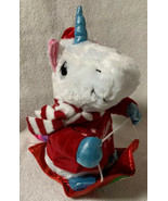 """Holiday Time Animated/Musical Unicorn On Sled Believe Rolls Turns 10"""" NWT - $14.84"""