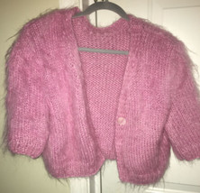 Vintage Ports 1961 Mohair Pink Dress Sweater Top Medium - $148.50