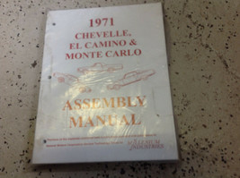 1971 CHEVY CHEVELLE MONTE CARLO EL CAMINO ASSEMBLY Instruction Manual  - $69.25
