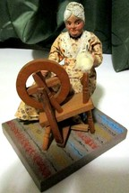 Collectible Old Lady using a A Saxony wheel Made in Cape Cod Wooden RARE... - $33.77