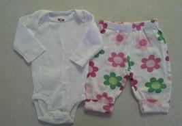 Girl's Size 3 M Months White NWOT Floral L/S Top & EUC Floral Pants Carter's - $14.10