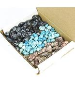 Tumbled Stone Collection 1.0 Lb Lots Snowflake Obsidian Turquenite Leopa... - $35.23